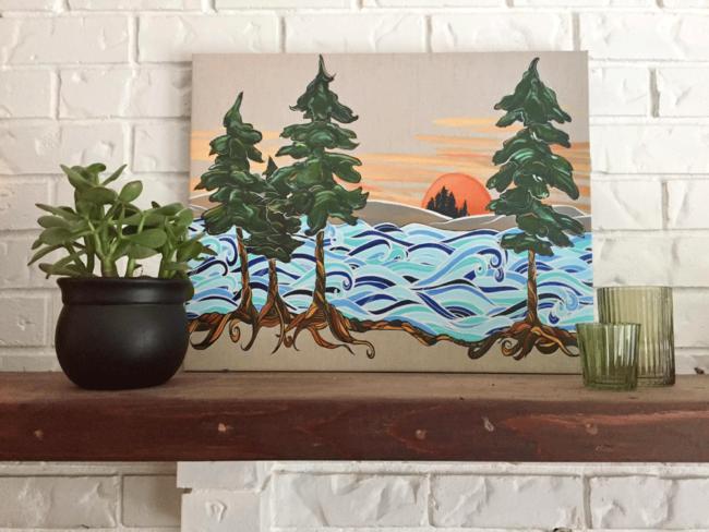 Coastal Union Canvas Print by April Lacheur