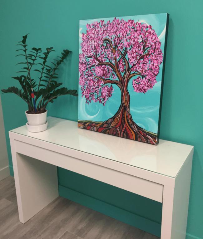 'Cherry Twist' Giclee Canvas print by April Lacheur