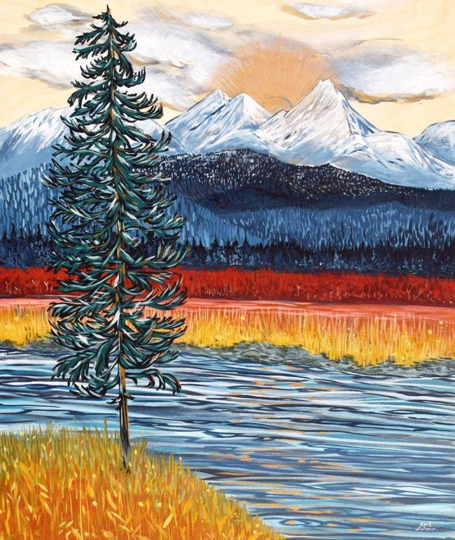 April Lacheur Art Golden View - SOLD