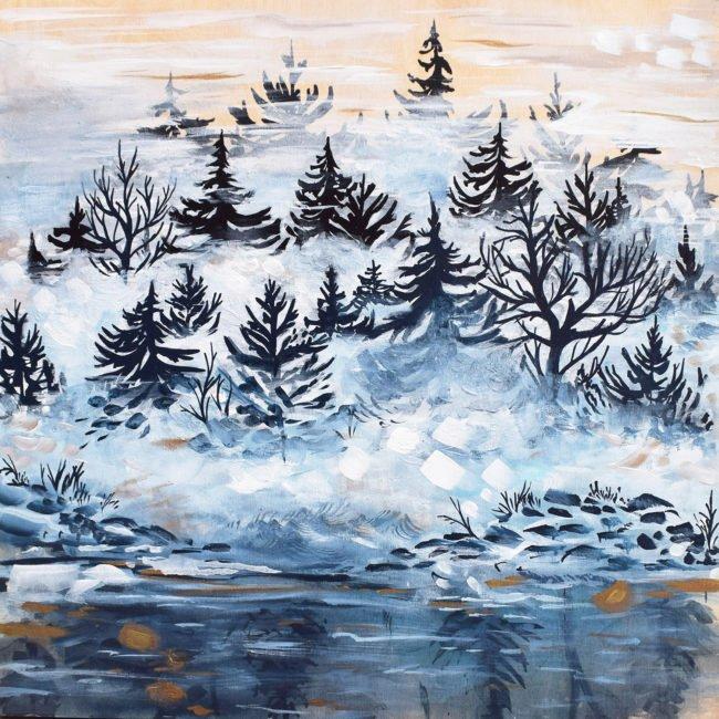 April Lacheur Art - Out of the Fog - 20x20